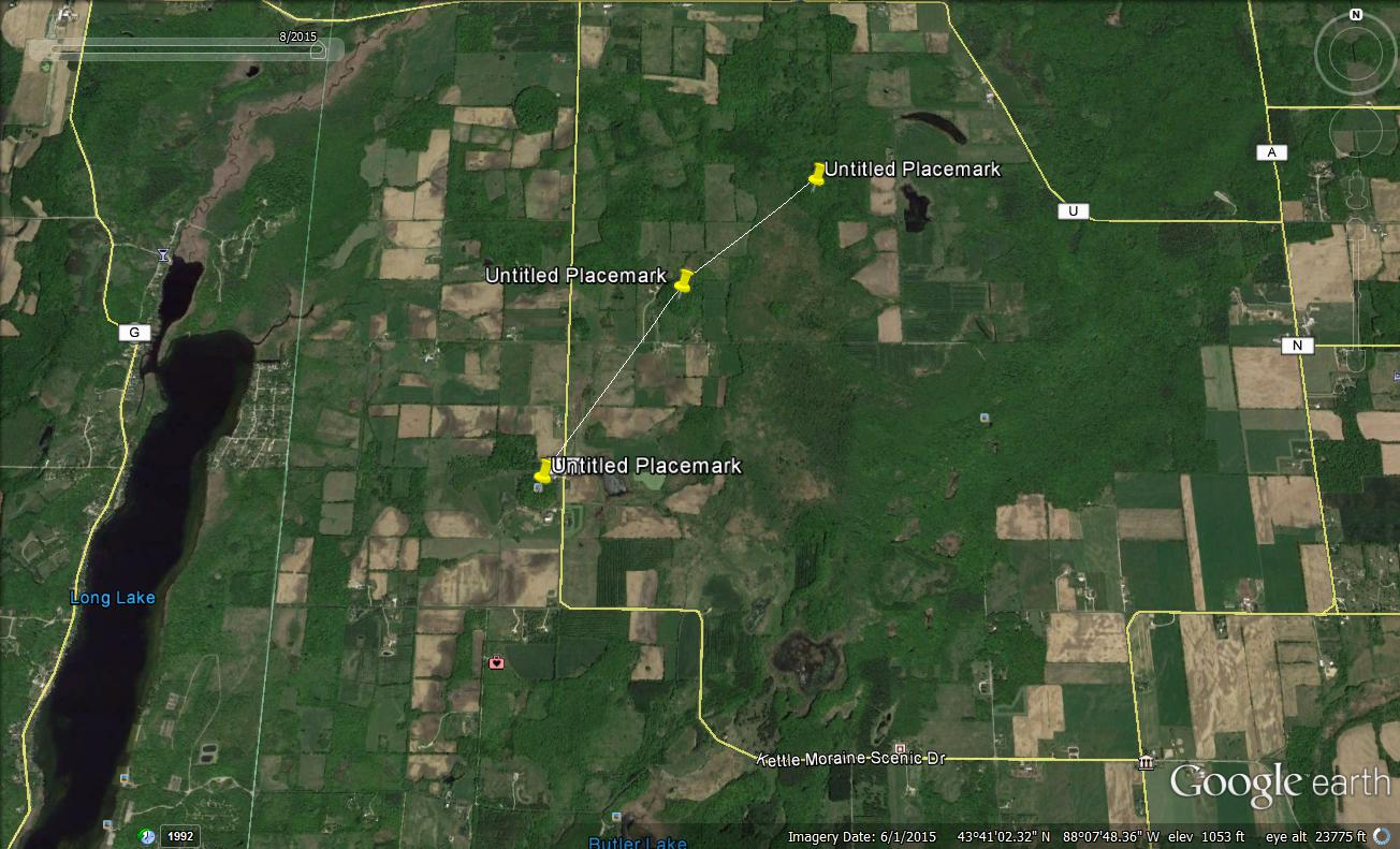 Wisconsin Pyramids Overhead Google Earth Image